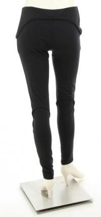 Black Circular Pocket Skinny Leggings Angle3