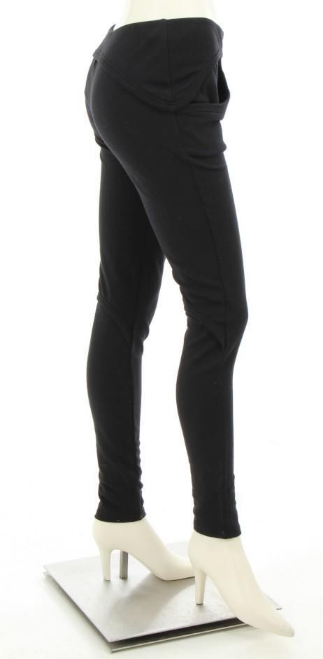 Black Circular Pocket Skinny Leggings