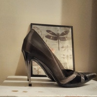 RARE Perspex 100mm Stilettos