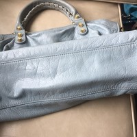 Balenciaga Light Blue Giant 12 City Bag w Gold HW Angle4