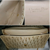 Vintage Dior Chain strap  Clutch/shoulder bag Angle9
