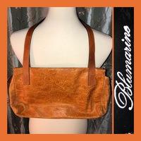 Brown Etched Handbag