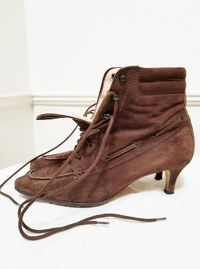 Manolo Blahnik Ankle Lace-Up Boots Angle3