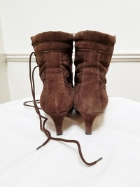 Manolo Blahnik Ankle Lace-Up Boots Angle4
