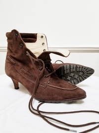 Manolo Blahnik Ankle Lace-Up Boots Angle1