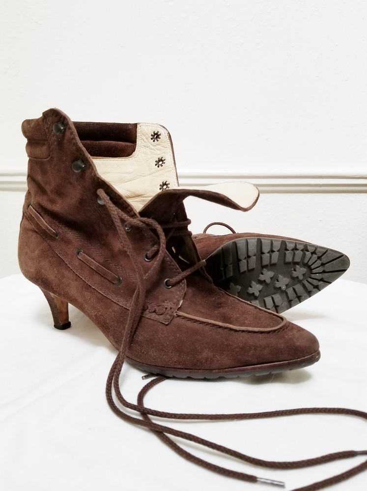 Manolo Blahnik Ankle Lace-Up Boots