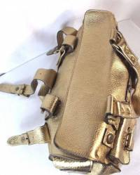 Gold Mulberry tote bag Angle7