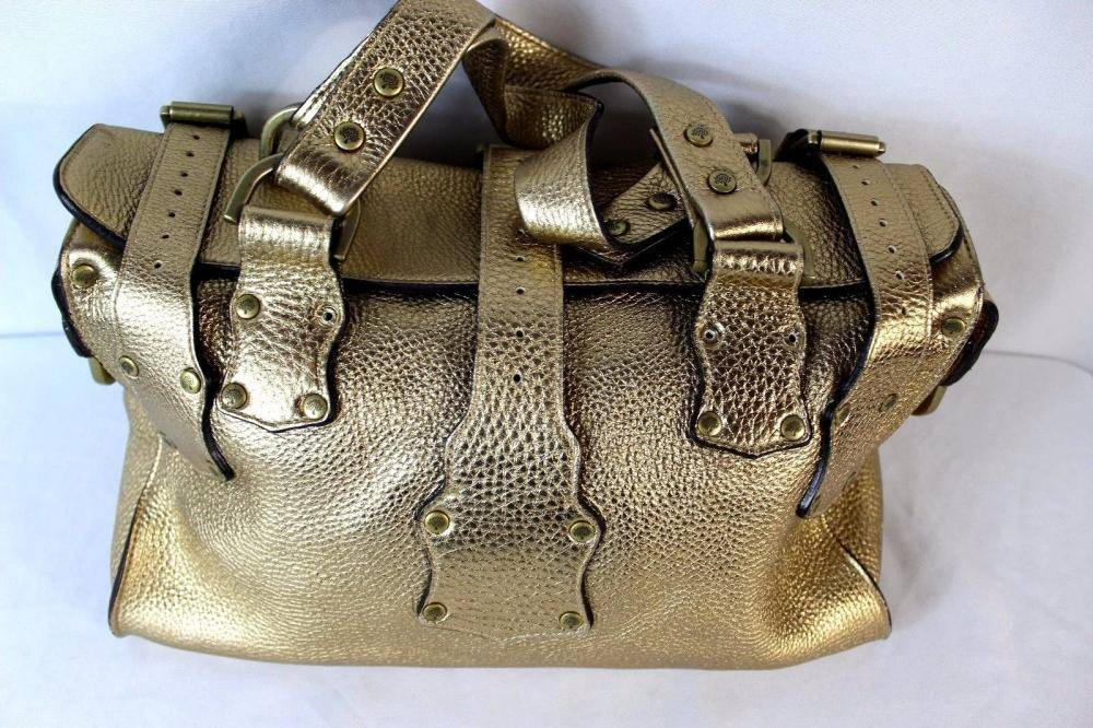 Gold Mulberry tote bag