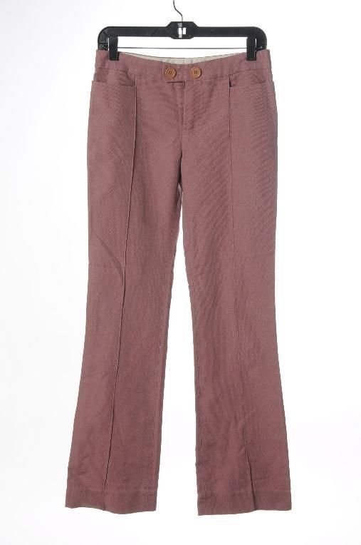 Puce Pink Relaxed Leg Creased Pants