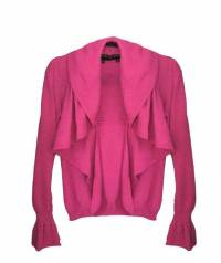 Escada Hot Pink Ruffle Sweater