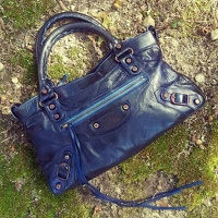 Balenciaga Classic First Navy Hand Bag Angle2