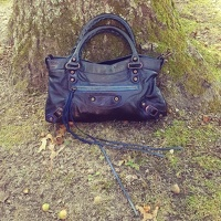 Balenciaga Classic First Navy Hand Bag Angle3