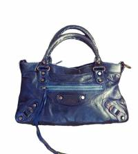 Balenciaga Classic First Navy Hand Bag Angle1