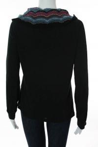 Missoni Black Multicolor Knit Striped Cowl Neck Angle4