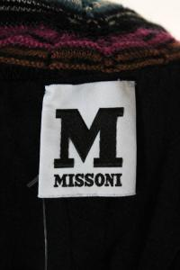 Missoni Black Multicolor Knit Striped Cowl Neck Angle5