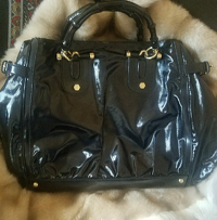 Gucci X Large Dialux Pop Bamboo Handle Black Tote