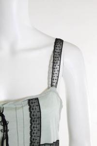 Green Lace Detail Sleeveless Top Angle2