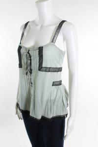 Green Lace Detail Sleeveless Top Angle3