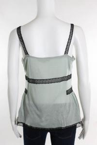 Green Lace Detail Sleeveless Top Angle4