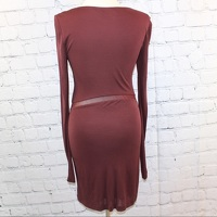 Alexander Wang Body contour Dress - Burgundy Angle3