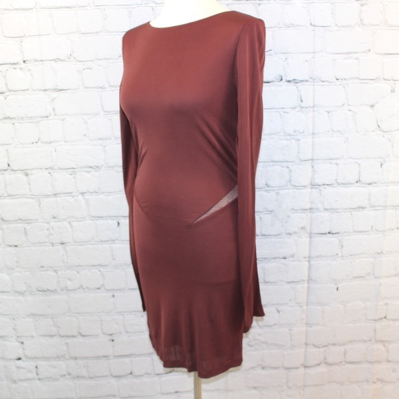 Alexander Wang Body contour Dress - Burgundy