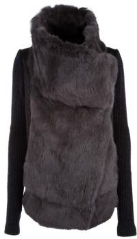 Helmut Lang double breasted fur jacket