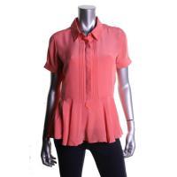 Silk Cuff Sleeves Peplum Top (fits like 6/8)