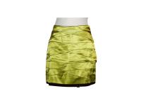 Lime Green Tiered Silk Skirt