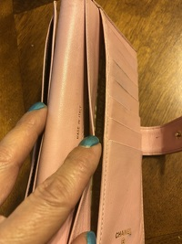 Pink Chanel Quilted Wallet Angle8