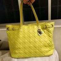 Dior Panarea Tote Bag (Yellow) Angle4