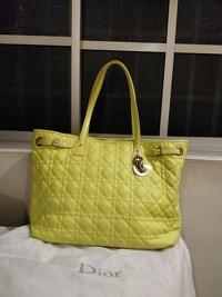 Dior Panarea Tote Bag (Yellow) Angle2