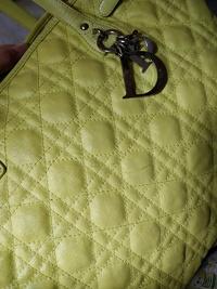 Dior Panarea Tote Bag (Yellow) Angle3