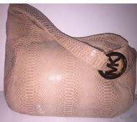 Michael Kors pink python leather bag