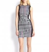 Clover Canyon Bodycon Houndstooth Dress