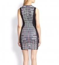 Clover Canyon Bodycon Houndstooth Dress Angle2