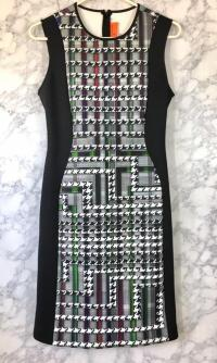 Clover Canyon Bodycon Houndstooth Dress Angle3