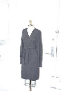 Wool DVF wrap dress Angle4
