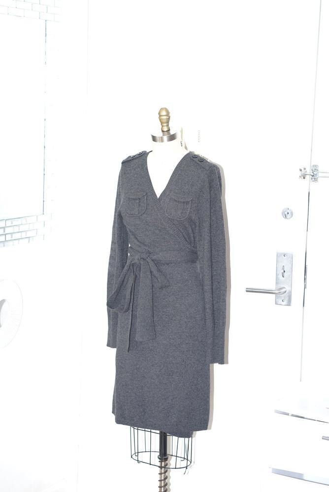 Wool DVF wrap dress