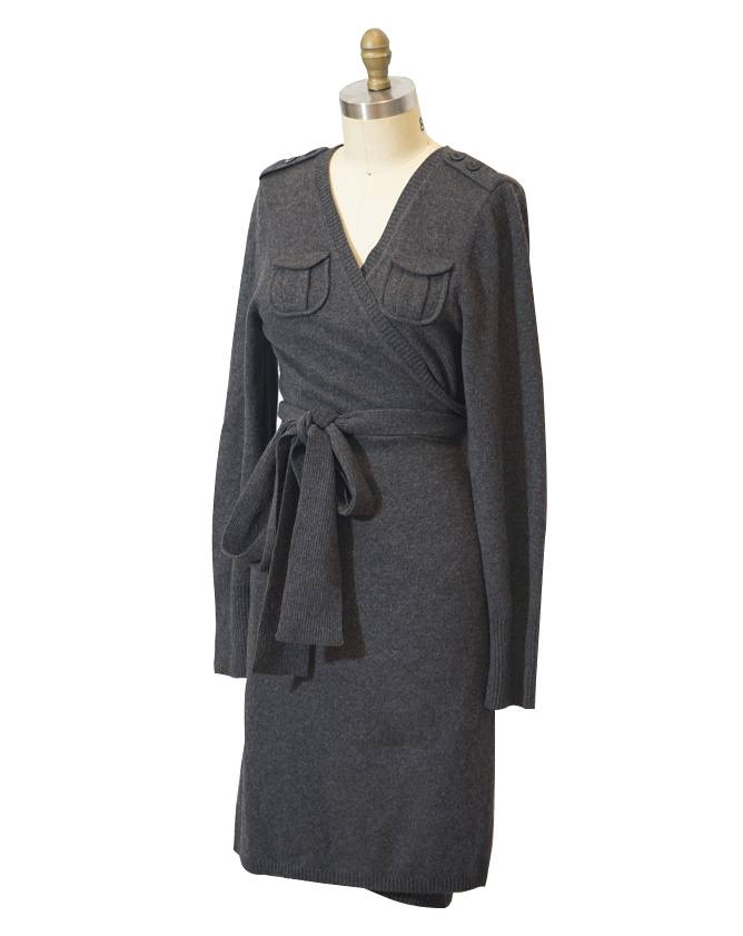 Wool DVF wrap dress