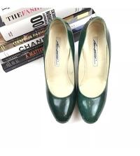Brian Atwood Heels Pumps 6.5 Scarpa Emerald Green Angle2