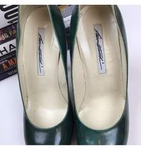 Brian Atwood Heels Pumps 6.5 Scarpa Emerald Green Angle4
