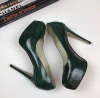 Brian Atwood Heels Pumps 6.5 Scarpa Emerald Green Angle8