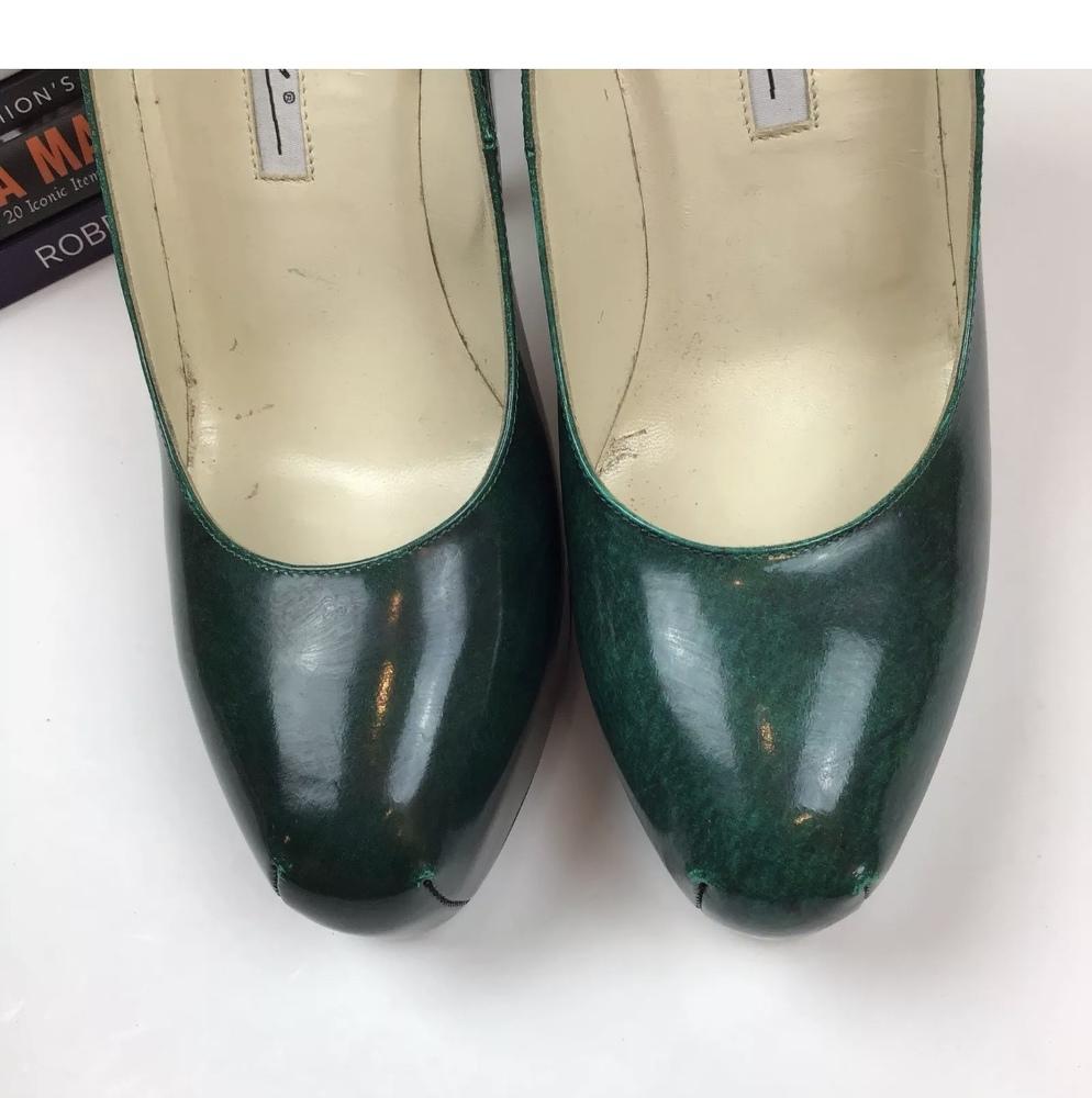Brian Atwood Heels Pumps 6.5 Scarpa Emerald Green
