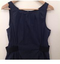 Armani Collezioni Dress Navy Blue Black Sheath Angle2