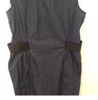Armani Collezioni Dress Navy Blue Black Sheath Angle3