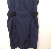 Armani Collezioni Dress Navy Blue Black Sheath Angle4