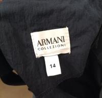 Armani Collezioni Dress Navy Blue Black Sheath Angle6
