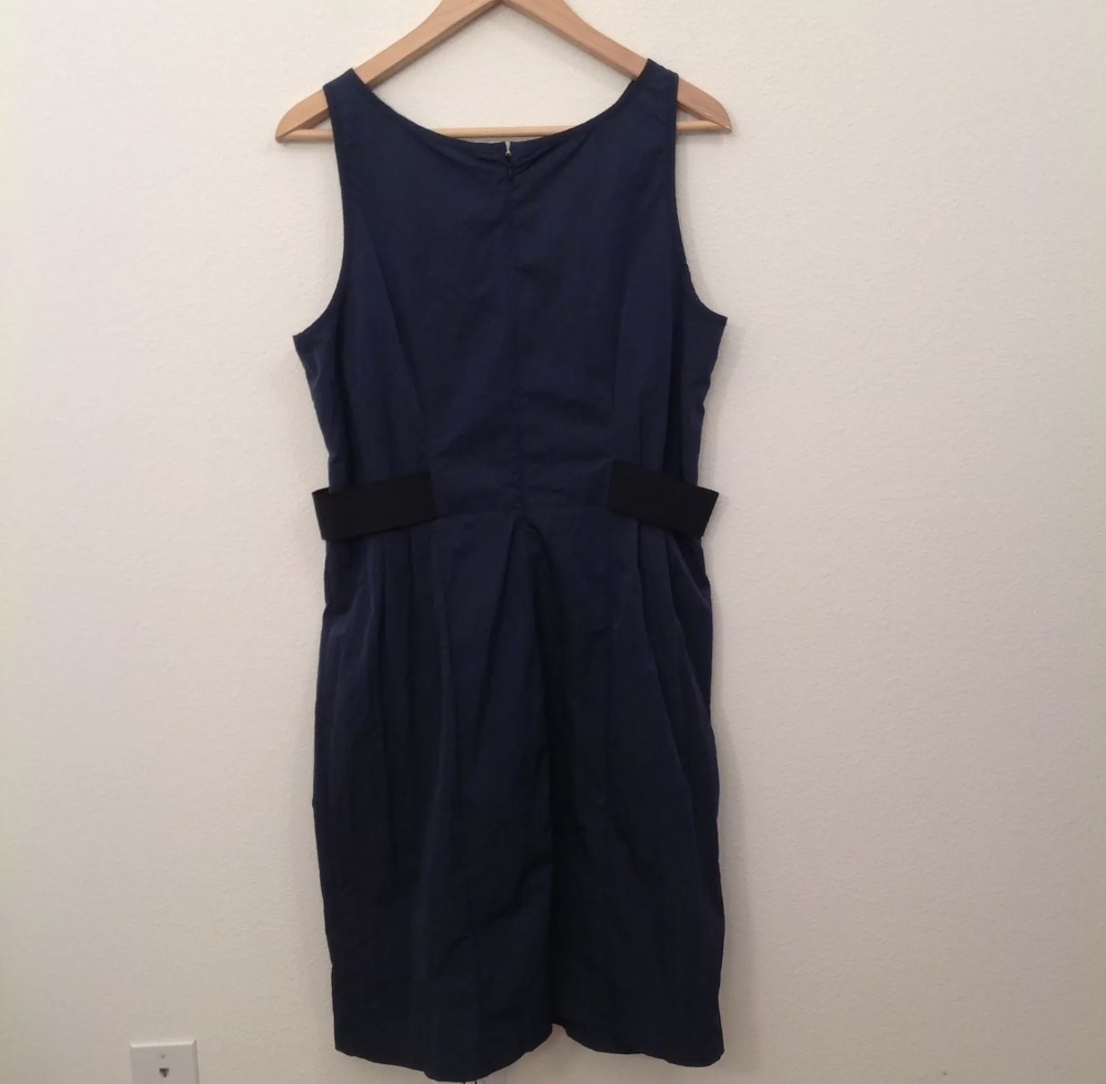 Armani Collezioni Dress Navy Blue Black Sheath