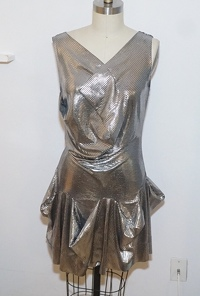 Vivienne Westwood metallic flare dress  Angle4