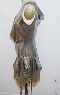 Vivienne Westwood metallic flare dress  Angle2
